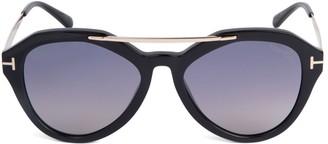 Tom Ford 54MM Round Aviator Sunglasses
