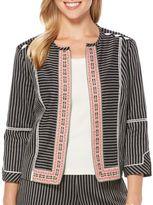 Rafaella Textured Open-Front Jacket