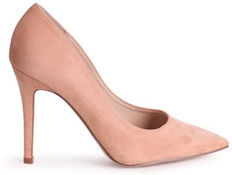 Linzi DYNAMIC - Nude Suede Stiletto Pointed Court Heel