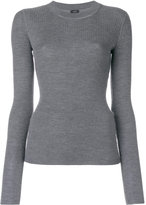 Joseph crew neck ribbed jumper - women - Silk/Cashmere/Wool - S