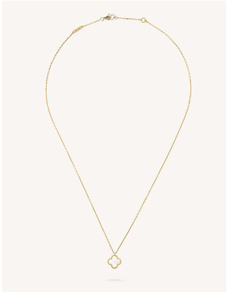 Van Cleef & Arpels Women's Yellow Gold Sweet Alhambra And Mother-Of-Pearl Pendant