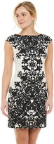 Petite Suite 7 Lace Scroll Sheath Dress