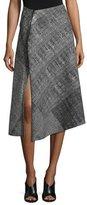Jason Wu Prince of Wales Asymmetric Skirt, Black/Chalk