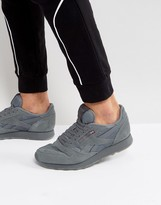 Reebok Leather Trainers In Grey Bs8895