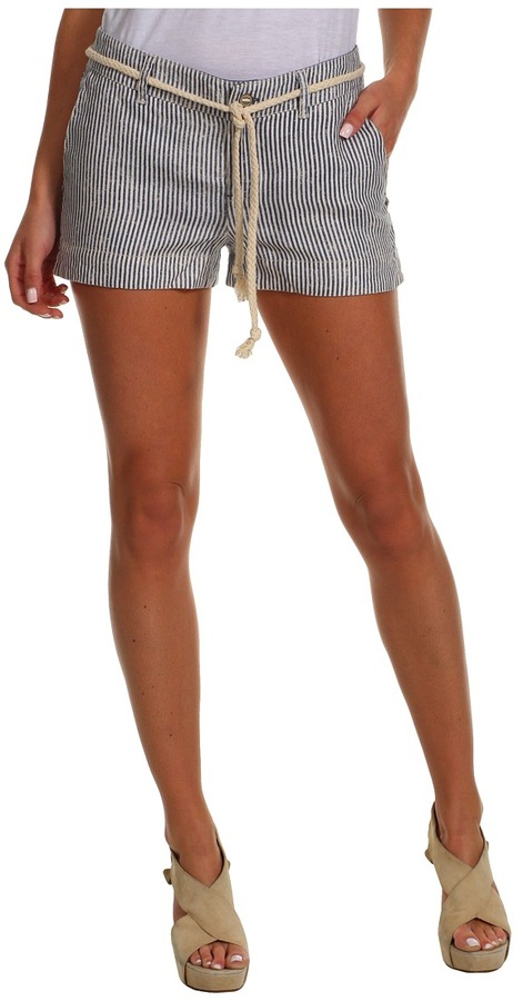 Michael Stars Stripe Linen Short (Shipwreck) - Apparel
