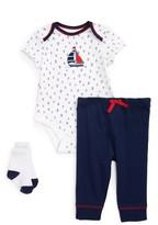 Little Me Infant Boy's Nautical Bodysuit, Pants & Socks Set