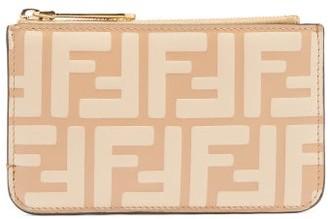 Fendi Ff-logo Leather Purse - Beige