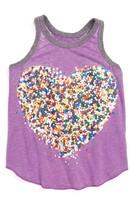 Chaser Toddler Girl's Sprinkle Heart Tank