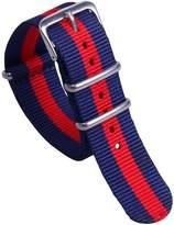 AUTULET Classic Colorful Men's One-piece NATO style Nylon Perlon Watch Bands Straps