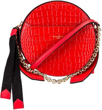 Givenchy Eden Embossed Croc Round Shoulder Bag in Red | FWRD