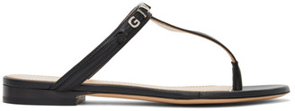 Givenchy Black Elba Thong Sandals