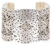 Lois Hill Sterling Silver Scroll & Filigree Open Cuff Bracelet