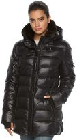 Women's S13 East Sider Hooded Shiny Down Puffer Jacket