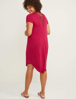 Lane Bryant LIVI Active Crochet-Inset Dress