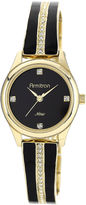 Swarovski Armitron Now Womens Crystal-Accent Gold-Tone Open Bangle Watch