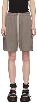Rick Owens Lilies Grey Heavy Jersey Shorts