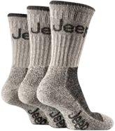 Jeep 3 pairs Men's Terrain walking hiking Cushioned Boot Socks