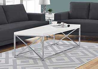 Monarch Specialties Coffee Table - Modern Cocktail Table with Metal Base