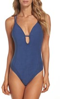 Lucky Brand Women's Suede With Me One-Piece Swimsuit