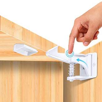 Mydome Child Cupboard lock & Baby Proofing Safety Door Stopper & Cabinet Latches