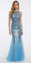 Camille La Vie Two Tone Beaded Evening Dress