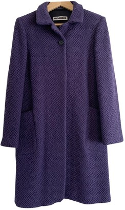 Jil Sander Purple Wool Coats