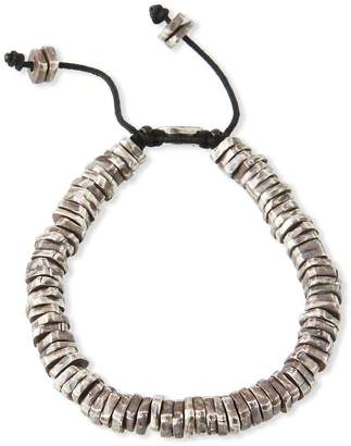 Men's Stacked Oxidized Discs Bracelet