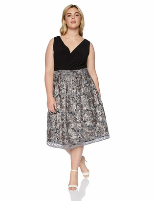 R & M Richards R&M Richards Women's One Piece Embroidered Party Dress