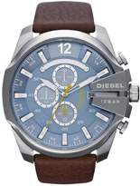 Diesel Mega Chief Brown Leather Strap Mens Watch