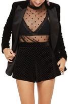 Topshop Studded Velvet Flippy Shorts