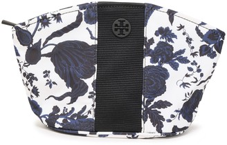 Tory Burch Logo-embellished Floral-print Twill Cosmetics Case