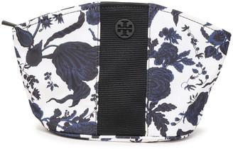 Tory Burch Logo-embellished Floral-print Twill Cosmetics Case