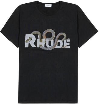 Rhude Black cotton-jersey T-shirt