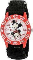 Disney Girl's 'Mickey Mouse' Quartz Plastic and Nylon Watch, Color: (Model: W003001)
