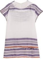 Lemlem Safara striped cotton-blend gauze hooded top