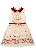 MonnaLisa embroidered roses dress