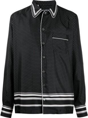Dolce & Gabbana Polka Dot Pyjama-Style Shirt