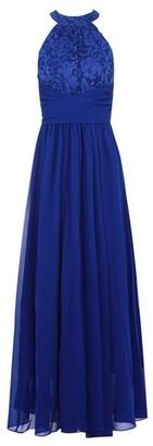 Dorothy Perkins Womens Jolie Moi Royal Blue Lace Maxi Dress, Blue