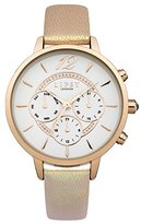 Lipsy Women's Quartz Watch with White Dial Analogue Display and Pink PU Strap LP421