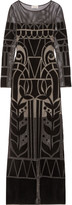 Temperley London Ashina embroidered open-knit gown