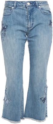 MICHAEL Michael Kors Embellished Mid-rise Kick-flare Jeans