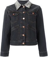 Etoile Isabel Marant Christa denim jacket - women - Cotton/Buffalo Bone - 34