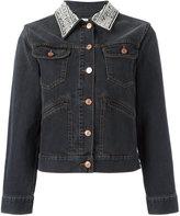 Etoile Isabel Marant Christa denim jacket - women - Cotton/Buffalo Bone - 38