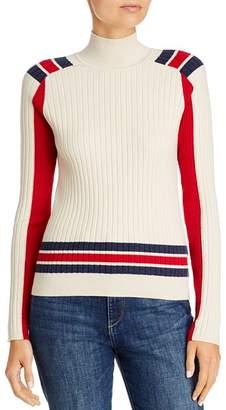 Rag & Bone Julee Striped & Color-Blocked Ribbed Sweater