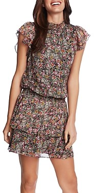 1 STATE Forest Gardens A-Line Dress