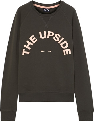 The Upside Bondi Appliqued French Cotton-terry Sweatshirt