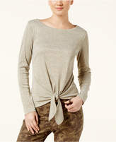 INC International Concepts Petite Tie-Front Top, Created for Macy's