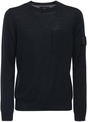 Stone Island Shadow Project Wool & Silk Knit Crewneck Sweater