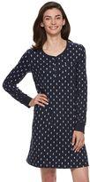 Croft & Barrow Women's Pajamas: Knit Ribbed Sleep Shirt