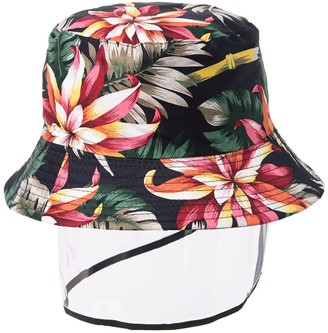Ellian Floral Print Bucket Hat with Shield